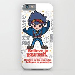 Gurren Lagann - Believe in yourself! iPhone Case