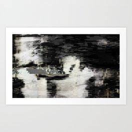 Transformative Space - Glitch 01 Art Print