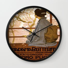 Vintage poster - Madama Butterfly Wall Clock