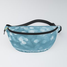 Blue abstract background with bokeh Fanny Pack