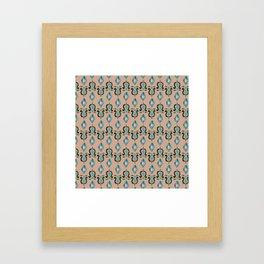 Colorfull Ikat Rosé Framed Art Print