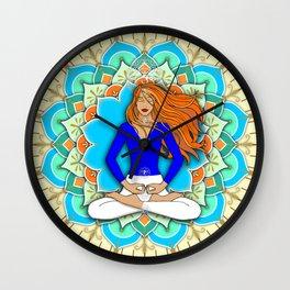 Mandala Listening to the Higher self Wall Clock