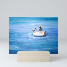 The Fisherman of Bonaire Mini Art Print