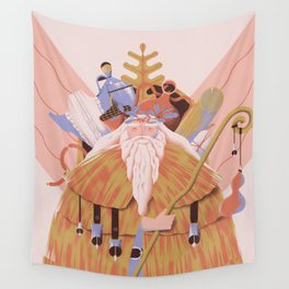 Old Man Yule Wall Tapestry