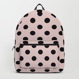 Blush Pink & Black Polka Dots D Backpack