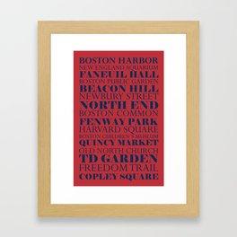 Boston Places Framed Art Print