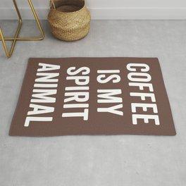 Coffee Spirit Animal Funny Quote Rug