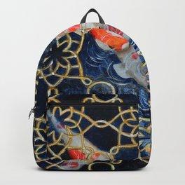 Koi Garden Fish Painting Backpack