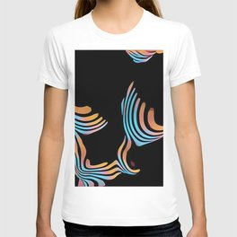 5126s-MAK Abstract Large Breasts Torso Composition Style T-shirt