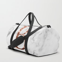 Monogram rose gold marble B Duffle Bag