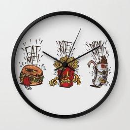 Food Rage Wall Clock