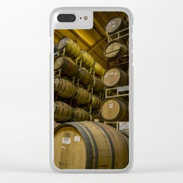 Winery Barrels Clear iPhone Case