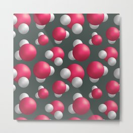 Water molecules Metal Print