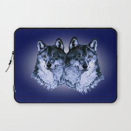 Season of the Wolf - Duet in Sapphire Laptop Sleeve