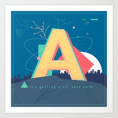 Alphabet A Art Print