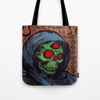 occult Tote Bags featuring Occult Macabre by Chris Moet