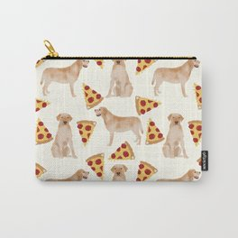 yellow lab pizza cute funny dog breed pet pattern labrador retriever Carry-All Pouch