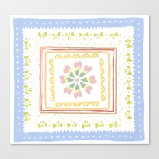 Vintage Handkerchief Pattern Canvas Print