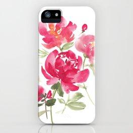 Peony Bouquet iPhone Case