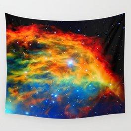 Rainbow Medusa Nebula Wall Tapestry