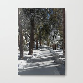 Mammoth Mountain: Chalets Path Metal Print