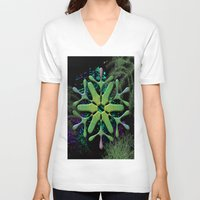 snowflake V-neck T-shirts featuring Snowflake by Ellen Turner
