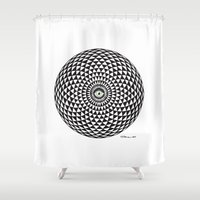 third eye Shower Curtains featuring Third Eye by Toni Hanninen