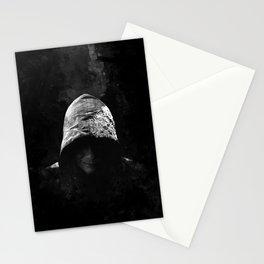 Victorian Assassin Hood - B&W Stationery Cards