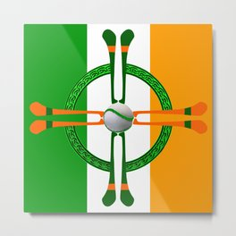 Hurley and Ball Celtic Cross Design Metal Print