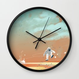 man on mars Wall Clock