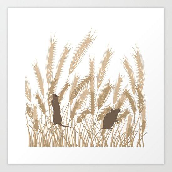 Mice In The Grain No. 2 Art Print