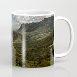 Cloudy Vibrant Mountaintop View in Big Bend - Lost Mine Trail Coffee Mug