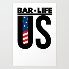 United States Bar•Life Art Print