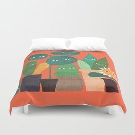 The plants are watching (paranoidos maximucho) Duvet Cover
