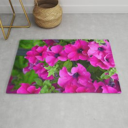 Beautiful pink petunias Rug