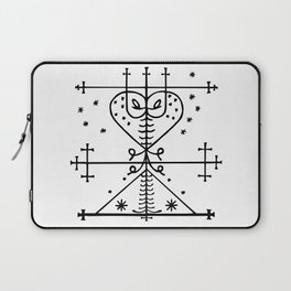 Maman Brigitte Veve Spirit World Blessings Voodoo Goddess Laptop Sleeve