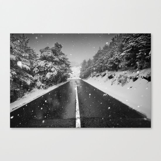 """""""The road"""". Bw Canvas Print"""