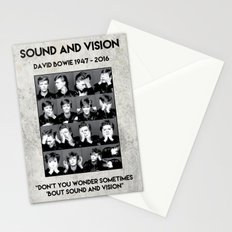 David Bowie : Sound and Vision Stationery Cards
