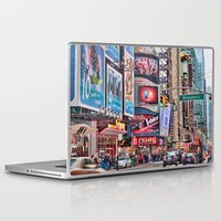 broadway Laptop & iPad Skins featuring Broadway, NYC by June Marie