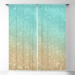 Sparkling Gold Aqua Teal Glitter Glam #1 #shiny #decor #society6 Blackout Curtain