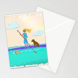 Paddleboarding Lifestyle Stationery Cards