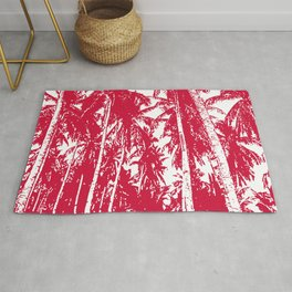Palm Trees Red Rug