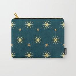 Boho gold stars on navy blue pattern Carry-All Pouch