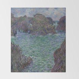 Belle-Ile by Claude Monet Throw Blanket