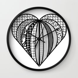 heart made from pieces Wall Clock
