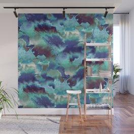 Aqua Blue TieDye Camo Wall Mural