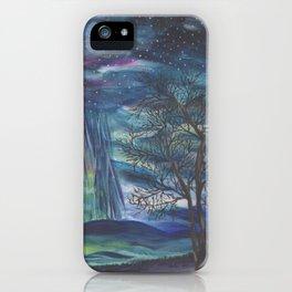 Starry Sky with Aurora Borealis iPhone Case