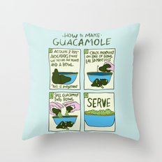 HOW TO MAKE GUACAMOLE Throw Pillow
