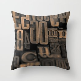 Movable Type 01 Throw Pillow