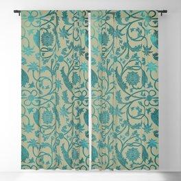 Blue Lotus Pattern Blackout Curtain